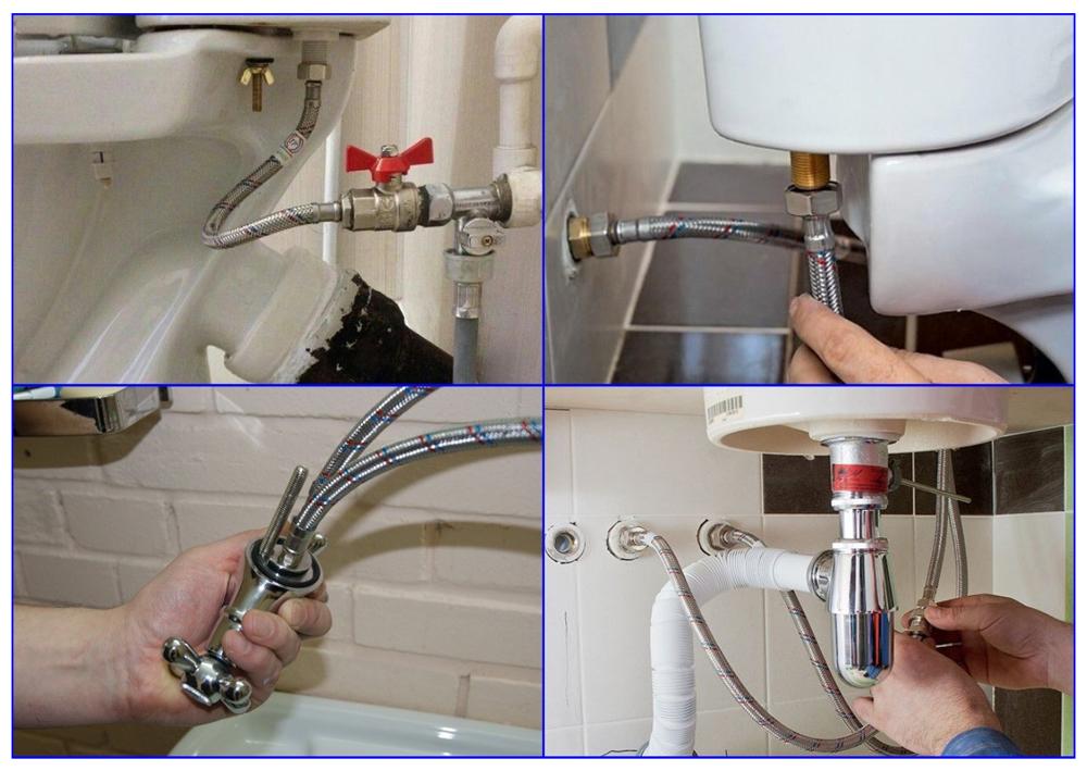 Подводка воды для раковин и унитазов используемая в быту.