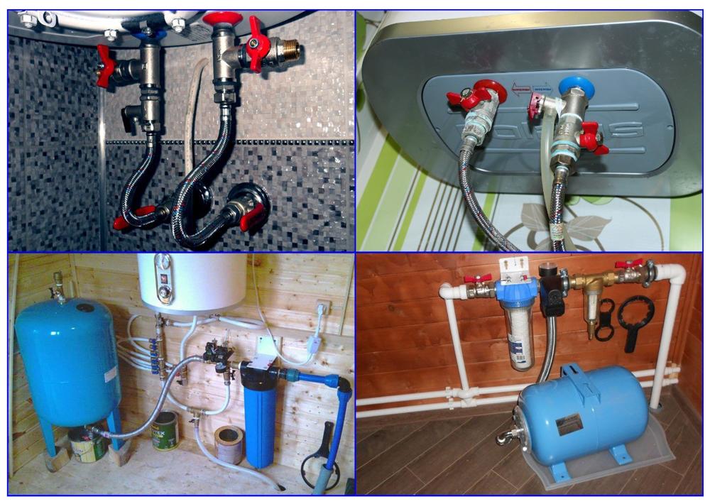Подводка воды к отопительному и насосному оборудованию.