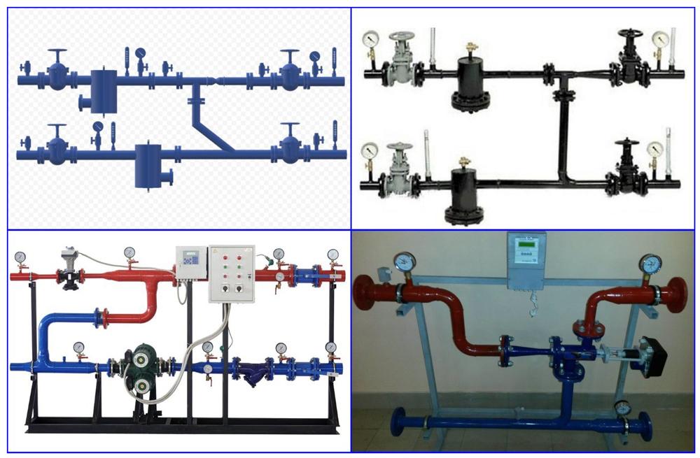 Примеры исполнения тепловых элеваторных узлов.