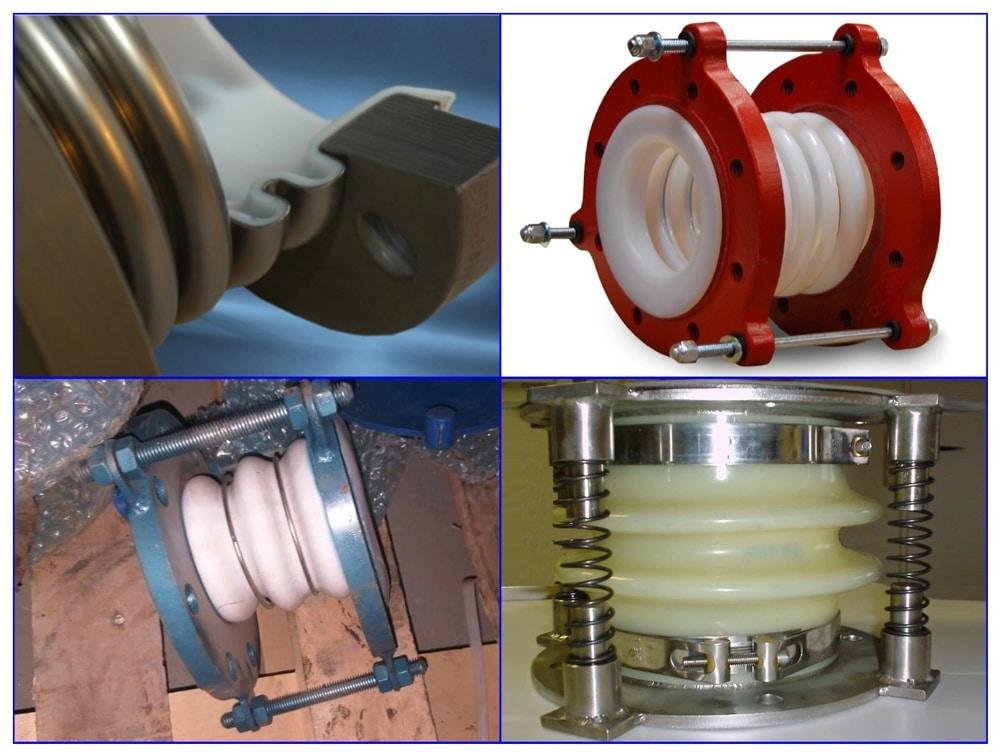 Фторопластовые компенсаторы для трубопроводов.