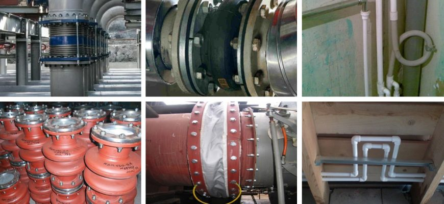 Компенсаторы для трубопроводов - виды, конструкции, монтаж.