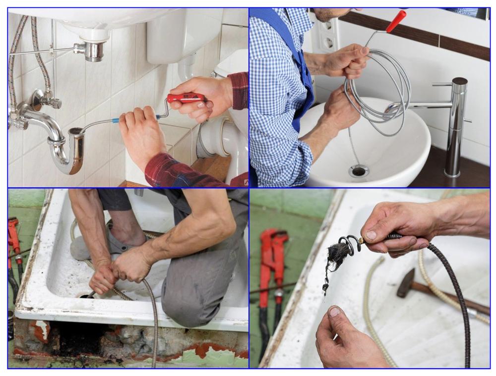 Трос для прочистки канализационных труб и примеры его использования.
