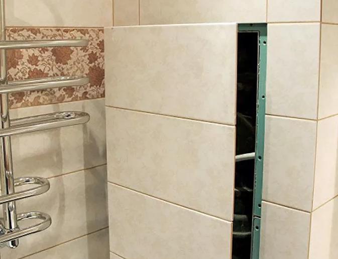 Как спрятать трубы в ванной своими руками